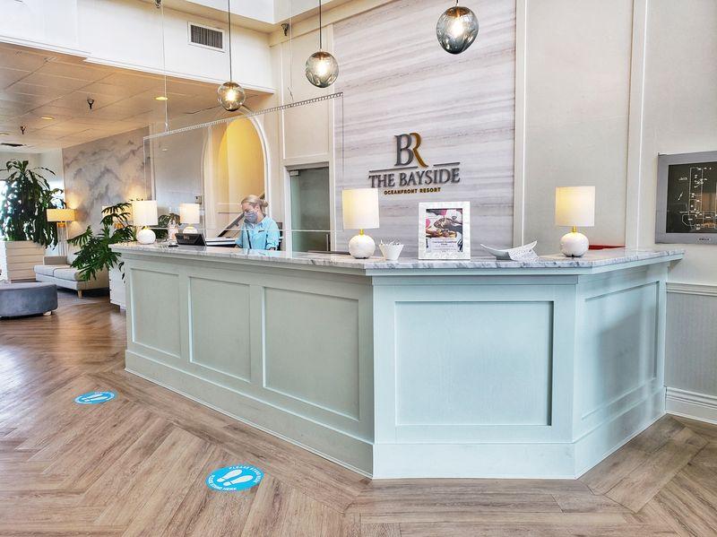 Bayside Oceanfront Resort front desk