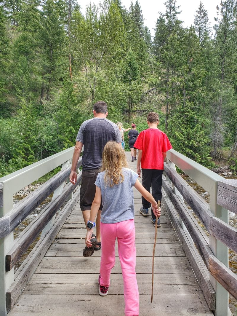 bridge in Scenic Canyon Regional Park in Kelowna, BC, Canada