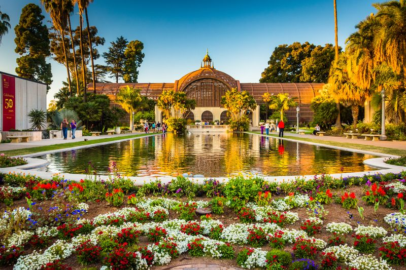 Botanical Building and Lily Pond Balboa Park San Diego USA