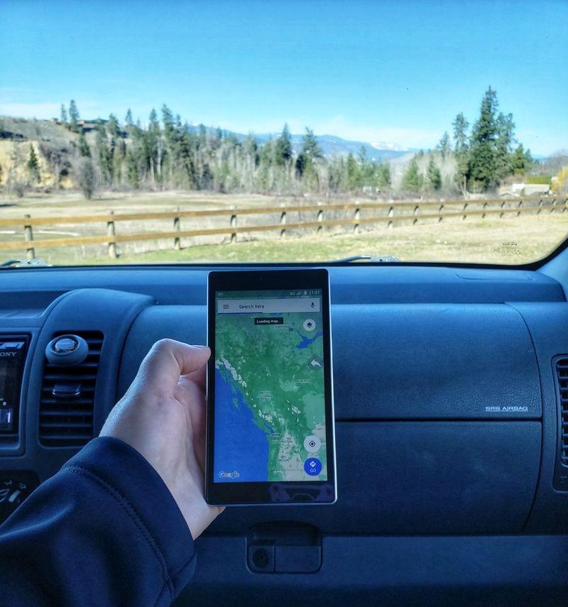 Google Maps on the GlocalMe device