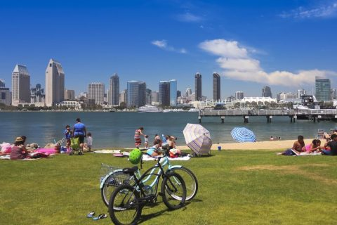Things to do in San Diego with Kids A San Diego Bay and Downtown View from SDG&E Park