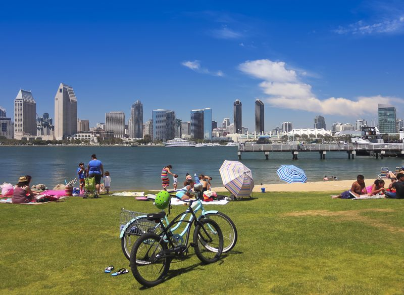 Things to do in San Diego  San Diego Bay and Downtown View from SDG&E Park