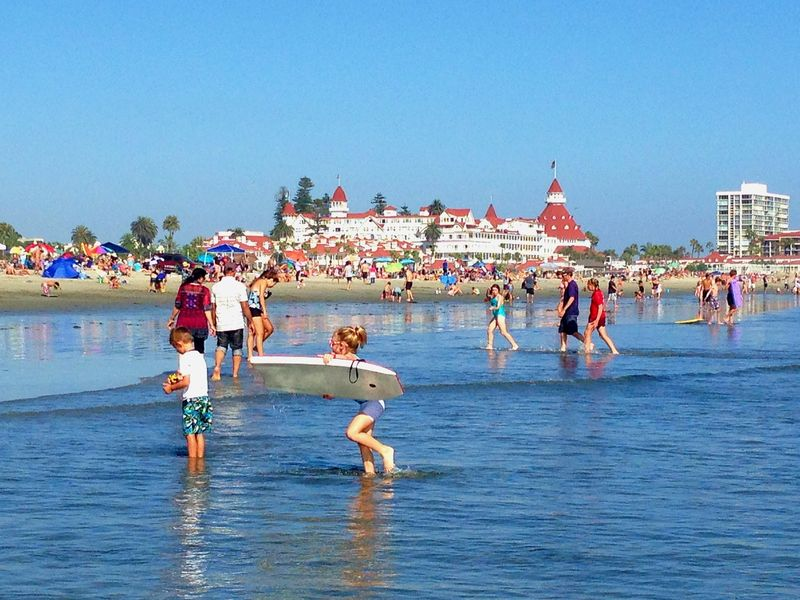 coronado beach by the hotel coronado PXBY