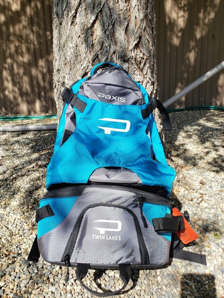 Paxis backpack review of swing arm backpack for fishing, hiking, camping or photography