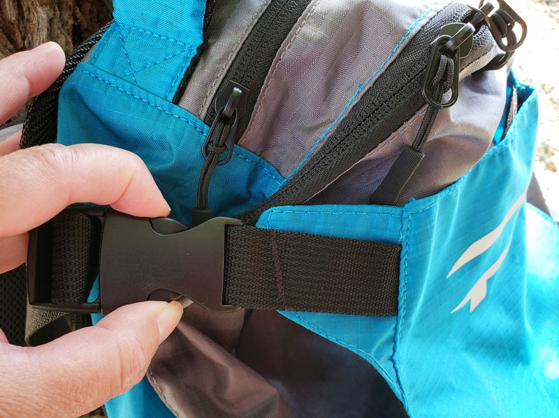 buckle at side of Paxis backpack