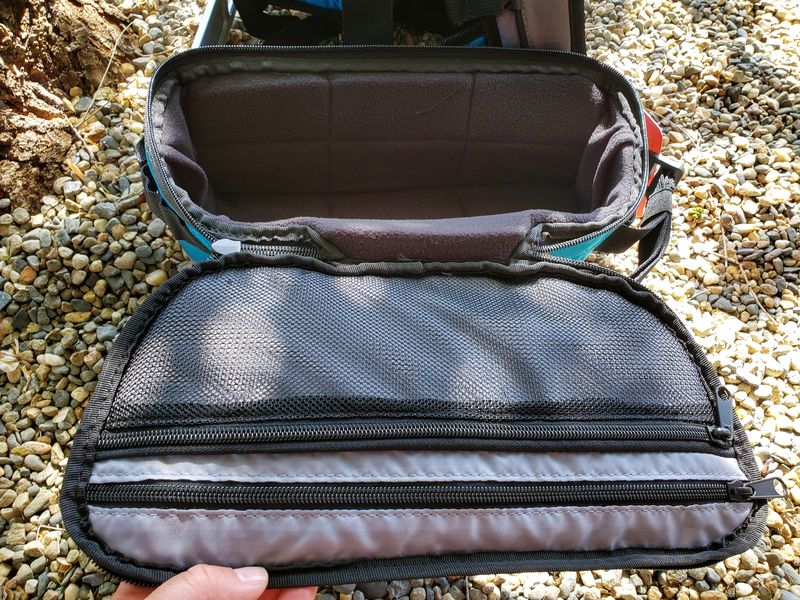 inside Paxis swing arm backpack pod