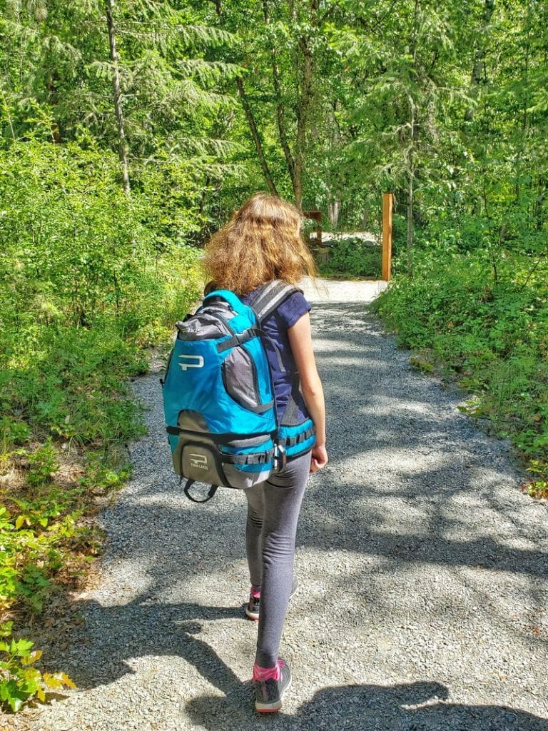 12 year old wearing the Paxis Twin Lakes pack