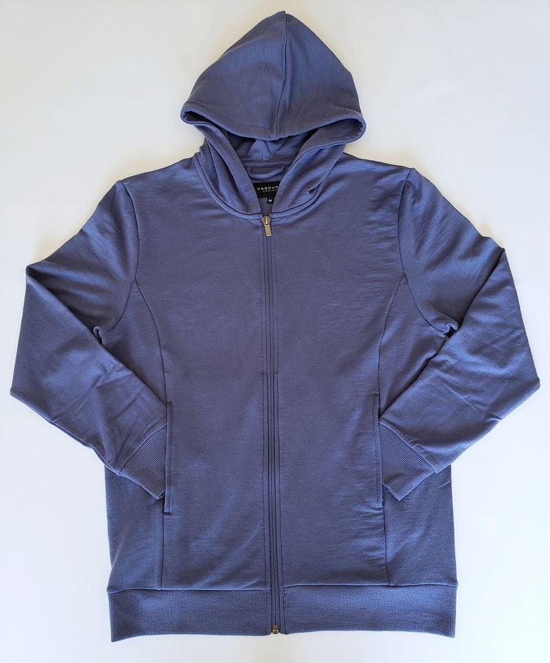 Unbound Merino hoodie in blue