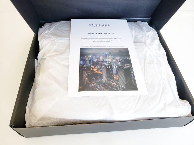 Unbound Merino wool clothing package