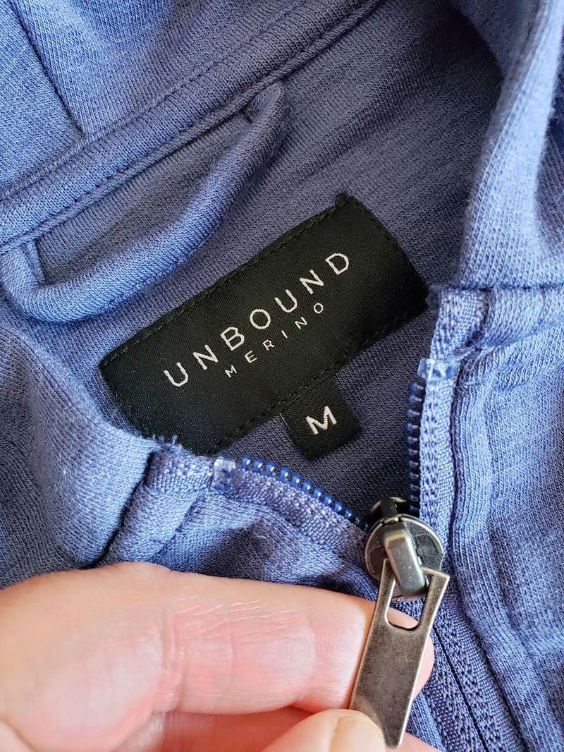 Unbound Merino zipper on hoodie