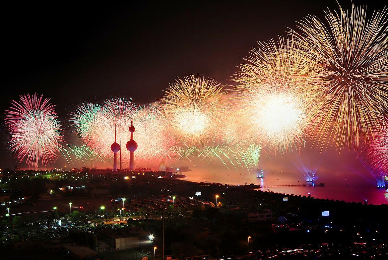 Kuwait City Fireworks
