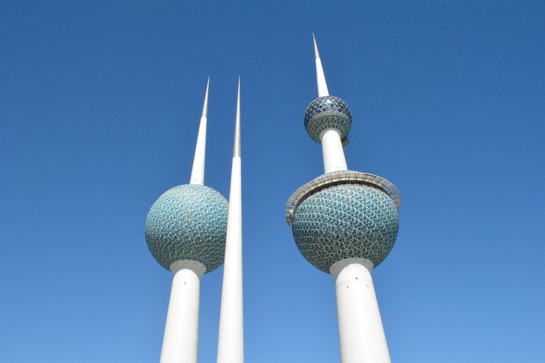 Kuwait Towers and blue sky
